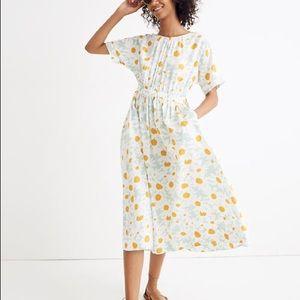 Madewell | XXL | Tie-back Midi Dress in Mini Daisy
